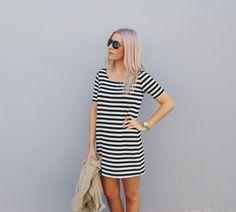 Katie Torwalt, worship leader Stripe short dress www.mytravelingcloset.com