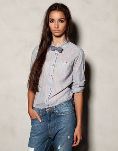 BOW TIE PRINT SHIRT - TEEN GIRLS COLLECTIONS - WOMAN - Romania