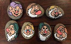 The Seven Dwarfs painted Rocks
