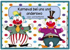 The Clever Feather: Kindergartenaffen für das Zoothema Clown Crafts, Kindergarten Portfolio, Human Personality, Primary School, Montessori, Clever, Homeschool, Crafts For Kids, Teaching