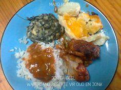 VLEIS - HOENDER Chicken Fillet Recipes, Grains, Meat, Baking, Food, Bakken, Essen, Meals, Seeds