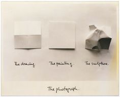 The drawing. The painting. The sculpture. The photograph. By Luis Camnitzer.