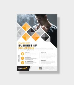 This corporate flyer is designed in Photoshop. The files included are help file and Photoshop PSD's. All PSD files are very well organized flyer templates. Creative Flyer Design, Creative Flyers, Creative Business, Flyer And Poster Design, Insert Image, Graphic Design Templates, Business Flyer Templates, Corporate Flyer, Freshman