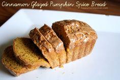 Cinnamon Glazed Pumpkin Spiced Bread - Yum...