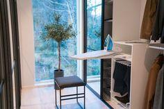 Praktisk med strykebrett i garderoben. Cabinet, Storage, Furniture, Home Decor, Cloakroom Basin, Clothes Stand, Purse Storage, Homemade Home Decor, Closet