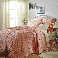 Romantic Cottage Chic Pink Floral Rag Quilt Reverse Seam Patchwork - Genevieve #VictorianHeart #Cottage