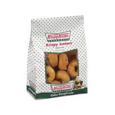 Krispy Kreme Doughnuts Krispy Juniors Plain/Cinnamon Cake Doughnuts,... ($2) ❤ liked on Polyvore featuring food, food and drink, fillers and food & drinks