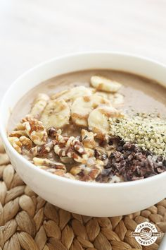 Who says you can't eat chocolate for breakfast? This Chunky Monkey Smoothie Bowl is a healthier take on the traditional Chunky Monkey ice cream flavour you know and love. It's a heavenly mixture of HempPro 70 Chocolate, banana and almond butter that will satisfy any chocoholic out there. With this smoothie bowl, Wednesday might just become your favourite day of the week! Get the full recipe by downloading our FREE Back to School Smoothie Bowls eBook!