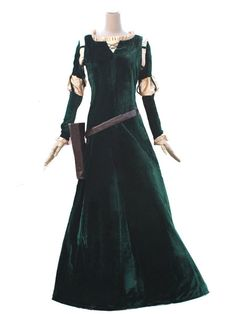 Princess Merida Costume (Brave Merida Costume) For Adults and Girls (charpie VER)