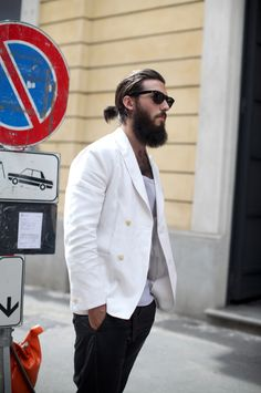 beard hair jacket pants sunglasses fashion men tumblr style streetstyle