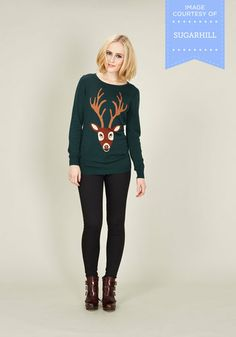 From Deer to Eternity Sweater, #ModCloth