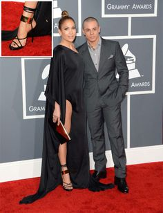 Jennifer Lopez Sines in Tom Ford Shoes at 55th Grammy Awards