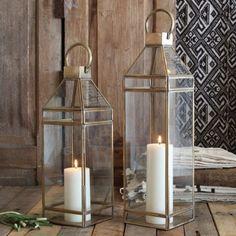 down to brass tacks lantern - the handmade home