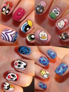 kid friendly ideas, hopefully their nails will be wide enough to do art on