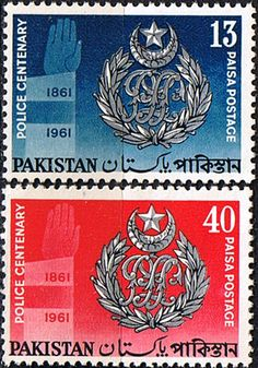 Pakistan Stamps 1961 Police Set Fine Mint SG 151 2 Scott 155 6 Other Asian and British Commonwealth Stamps HERE!