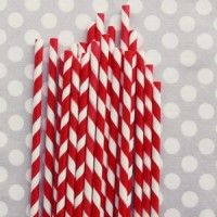 cute red and white striped straws