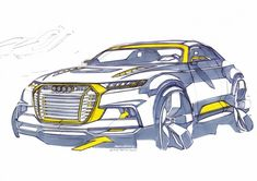 Audi Crosslane Coupe Concept - Design Sketch http://www.carbodydesign.com/design-sketch-board/page/57/