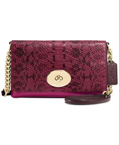 Coach Crosstown Crossbody In Colorblock Exotic Embossed Leather