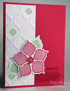 Stampin' Up! Christmas Card by Elaine S at Elaine's Creations: Mosaic Madness Cards