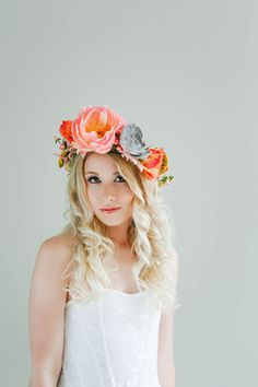 How to make a succulent crown - boho bride