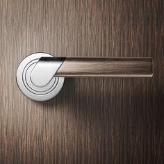 SLICE - door handle on Industrial Design Served Black Door Handles, Industrial Design Sketch, Industrial Style, Black Doors, Door Knobs, Door Design, Windows And Doors, Furniture Design, Furniture Hardware
