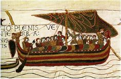 The Bayeux Tapestry or Tapisserie de la Reine Mathilde depicts the Norman conquest of England by William the Conqueror and the Battle of Hasting in 1066 Bayeux Tapestry, Medieval Tapestry, Ancient Egypt Art, Norman Conquest, Cherbourg, Honfleur, Tall Tales, Crewel Embroidery, Pilgrimage