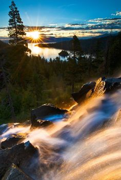 Eagle Falls Sunburst..... Relax with this nature photo. #Relax more with this #free #music with #BinauralBeats that can #heal you. #landscaping #LandscapingIdeas #landscapeDesign