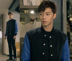 Black and Blue Snap Jacket || A Witch's Romance || Park Seo Joon