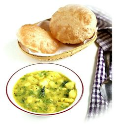 A perfect dish from ruchiskitchen to tickleyourtastebuds puri bhaji gravy recipe delicious north indian breakfast recipe of poori bhaji a flaky deep fried indian bread served with spicy potato curry solutioingenieria Image collections