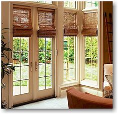 pictures of sliding glass door coverings | Sliding glass door roman shades - curtains for glass doors