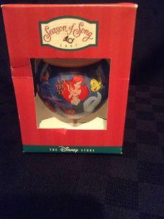 Season Of Song 1997 Disney The Little Mermaid Christmas Tree Ornament Round