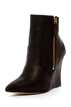 thick high heel side zipper ankle boots