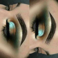 makeup inspo   blue eye look   green eye look  