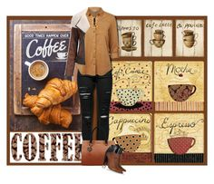 """Coffee Break"" by noconfessions # FERETI  ❤ liked on Polyvore"