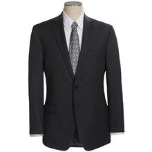 Calvin Klein Pinstripe Suit - Slim Fit (For Men) in Black - Closeouts