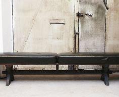 leather bench circa 1930