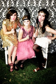 three friends at the Great Gatsby Party. Like me at www.facebook.com/shanemorrisphotography