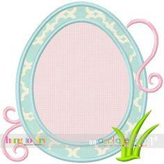 Easter Egg Shaped MONOGRAM Frame - 4x4, 5x7, 6x10 & 7x11