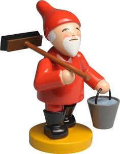 Gnome / Fairy / Elf with Broom and Bucket - New May 2017