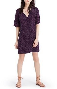 WOMEN'S MADEWELL PAINTED CLOVER SILK BELL SLEEVE DRESS https://api.shopstyle.com/action/apiVisitRetailer?id=636468615&pid=uid3481-23865059-61