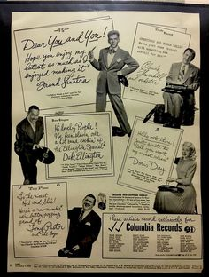 Vintage 1947 Columbia Records Orig Life Magazine Print Ad   eBay