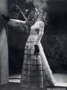 Chanel 1940 Evening Gown Photo Horst