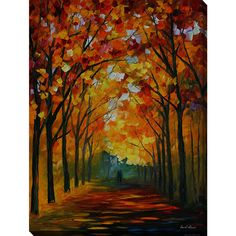 Leonid Afremov 'Farewell To Autumn' Giclee Print Canvas Wall Art