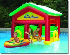 Inflatable boat house, so much summer fun! $89