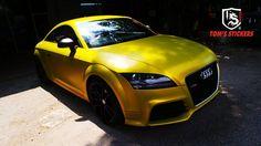 Audi TT Satin Yellow Full Wrap   #tomsstickers   #carwrap   #vinyldecal   #vehiclewrap   #carsticker   #audi   #yellow   #kualalumpur   #malaysia   #stickershop