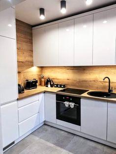 50 Creative Modern Kitchen Cabinet Design Ideas For Large Space Storage – Small Kitchen Ideas Storages Kitchen Room Design, Kitchen Cabinet Design, Modern Kitchen Design, Home Decor Kitchen, Interior Design Kitchen, Home Kitchens, Kitchen Layout, Modern Kitchens, Interior Modern
