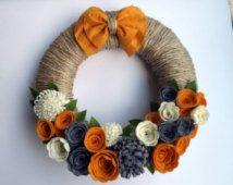 felt flower wreath - Google Search