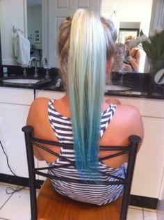 Really want to dip dye my hair Dip Dye Hair, Dye My Hair, Dip Dyed, Hair Color Blue, Blue Hair, Hair Colors, Hair Day, New Hair, Summer Hairstyles
