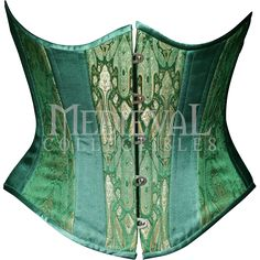 Emerald Brocade Underbust Corset - CS-115 by Medieval Collectibles