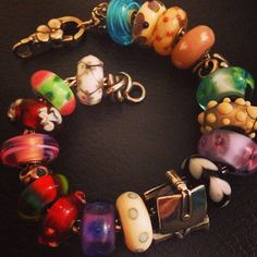 wore this for the first time in a long time today. i love my troll beads! #trollbeads #beads #charms #bracelet